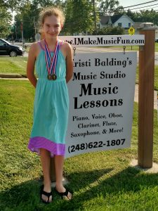Ava won Gold in Note Reading/Intervals and Rhythms! What a great confidence builder, Ava!