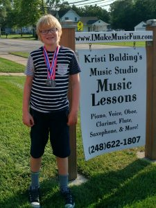 Miles won Gold in Scales, Silver in Rhythms and Ear Training! You're off to a great start, Miles!