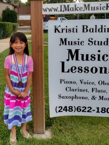 Erianne won Silver in Performances! Keep sharing your joyful songs, Erianne!